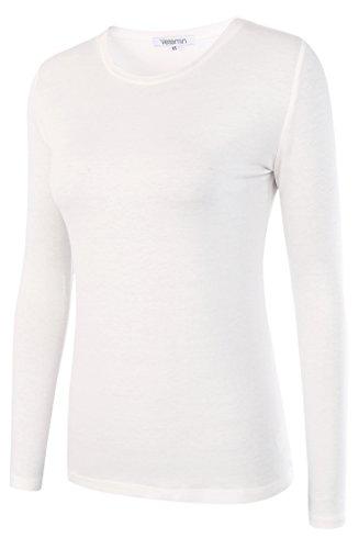 White Basic Crewneck T-Shirt - 4