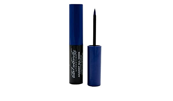Amazon.com: Against All Odds Liquid Ink Eyeliner, All Nighter (Blue), 0.095 Fluid Ounce by Total Intensity by Prestige: Beauty