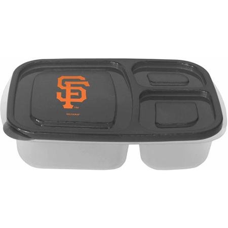 MLB San Francisco Giants 3-Compartment Lunch Container, 2pk