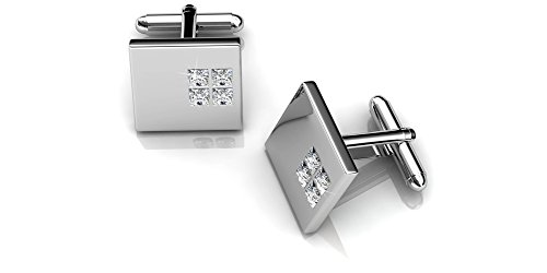 (Her Jewellery Men's Cufflinks Square 2 (Crystals From Swarovski))