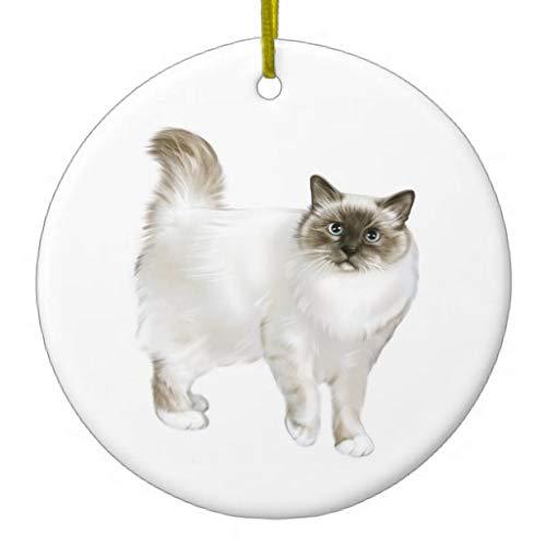 LilithCroft99 Birman Cat Christmas Christmas Ornaments Novelty Christmas Tree Decorations Idea