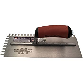 Marshalltown NT685 Notched Trowel 1//4 x 1//2 x 1//4-Inch U-Soft Grip Handle New,