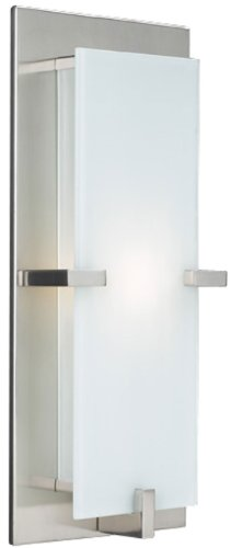 (PLC Lighting 909 SN Polipo Collection 1 Light Sconce, Satin Nickel)