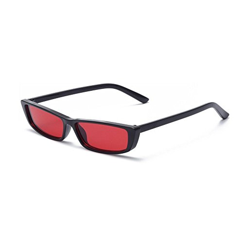 MINCL/Bold Small Sunglasses Stylish Fashion Designer Rectangle Frame Shades - Men Face Rectangular
