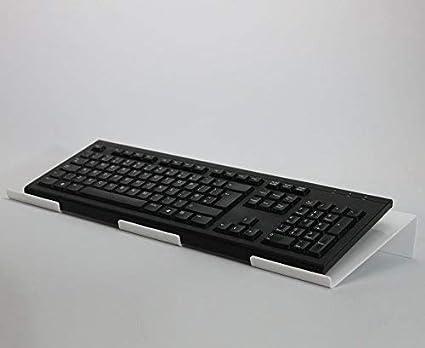 Soporte ergonómico para teclado de ordenador, acrílico, para teclado, reposamuñecas, color blanco