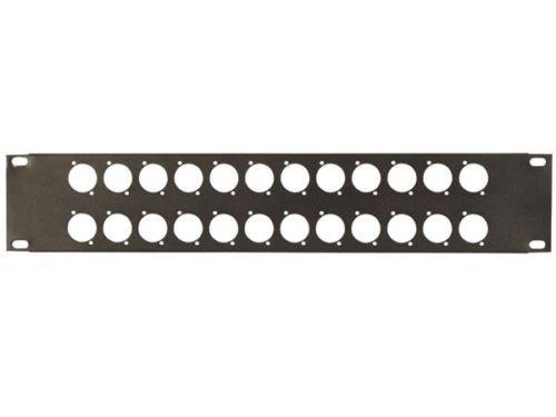 (19 inch blank panel 24 XLR ports 2U)