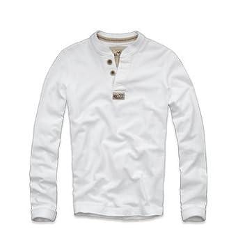 Hollister Men S Long Sleeve White T Shirt Uk Size Large Amazon Co
