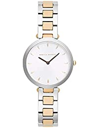 Women's Quartz Watch with Stainless Steel Strap, Silver, 13 (Model: 2200279)