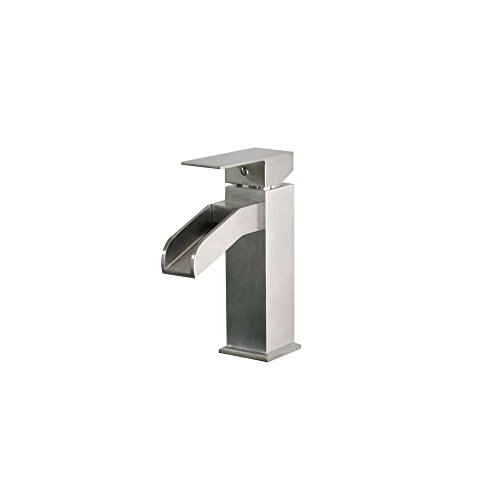 Belle Foret Single Hole - Belle Foret Single Hole Single-Handle Mid-Arc Bathroom Faucet in Stainless Steel