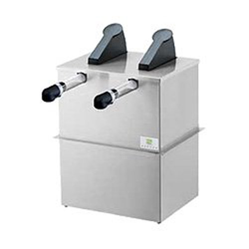 Server Products SE-2DI-07160 Express Pouched Condiment Station, (2) 07794 Pumps and Drop-In Base, (2) 1-1/2 gal, 16 mm Capacity, Black/Stainless Steel (Server Pump Express)