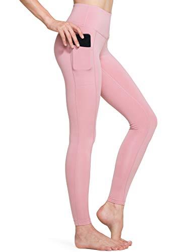 TSLA Yoga Leggings mit Bauch-Kontrolle und hoher Taille Workout Pants mit Tasche für Damen