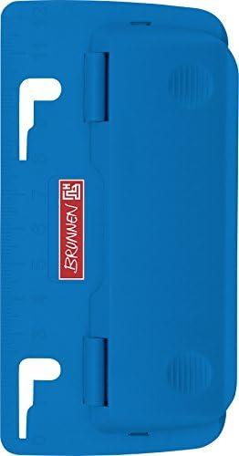 Brunnen 102065033 Taschenlocher Colour Code zum Abheften, mit Linealprägung und Niederhalterfunktion) blau / azur
