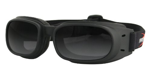 Bobster 3100H00150 Piston Goggles, Black Frame/Smoked ()