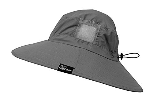 b36149b66a3 Sun Blocker Unisex Outdoor Safari Sun Hat Wide Brim Boonie Cap with Adjustable  Drawstring for Camping