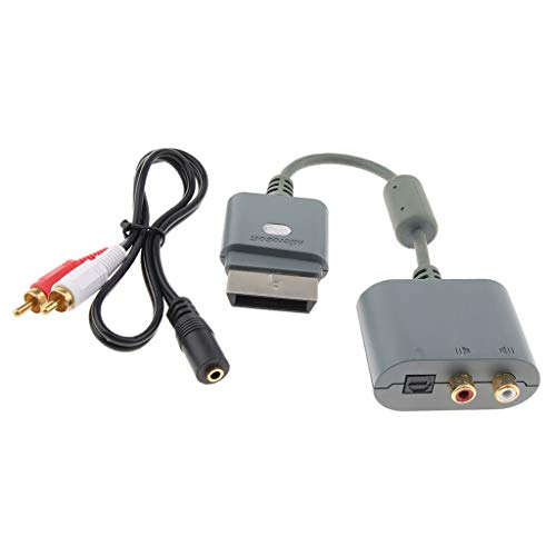 Baosity RCA Audio Adapter+3.5mm Stereo Female to Dual 2 RCA Male Cord for Xbox 360