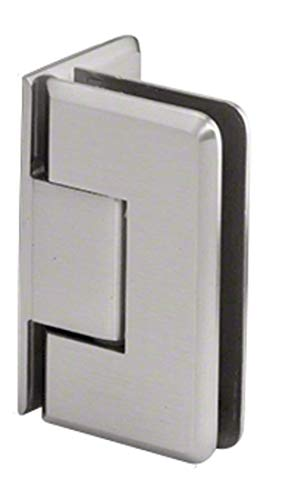 - C.R. LAURENCE P1N044BSC CRL Brushed Satin Chrome Pinnacle 044 Series Wall Mount Offset Back Plate Hinge