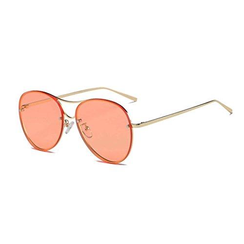 Misaky Fashion Women's Cat Eye Shades Sunglasses Integrated UV Candy Colored Glasses (Za_Orange 1, - Za Sun