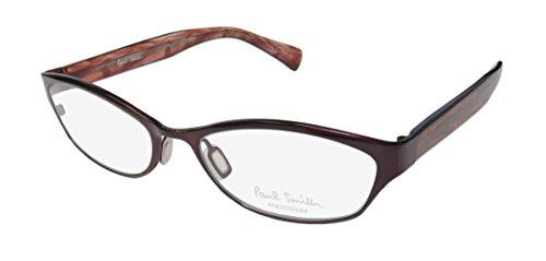 Paul Smith Barbet Womens/Ladies Cat Eye Full-rim Eyeglasses/Eyeglass Frame (52-17-142, Grape / Transparent - Metal Glasses Frame Purple