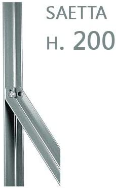 NEXTRADEITALIA CF da 1PZ Paletto a T ZINCATO per recinzioni da GIARDINO recinzione in ferro sezione mm 30x30x3 altezza Palo 100 CM Colore ZINCO