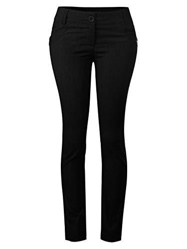 Design by Olivia Women's One Button Comfy Bootcut Curvy Fit Trouser Pants Black 3XL