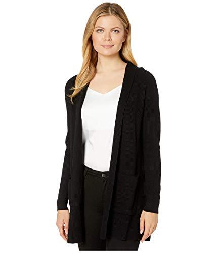 Pendleton Women's Merino/Cashmere Rib Cardigan Sweater, Black, SM