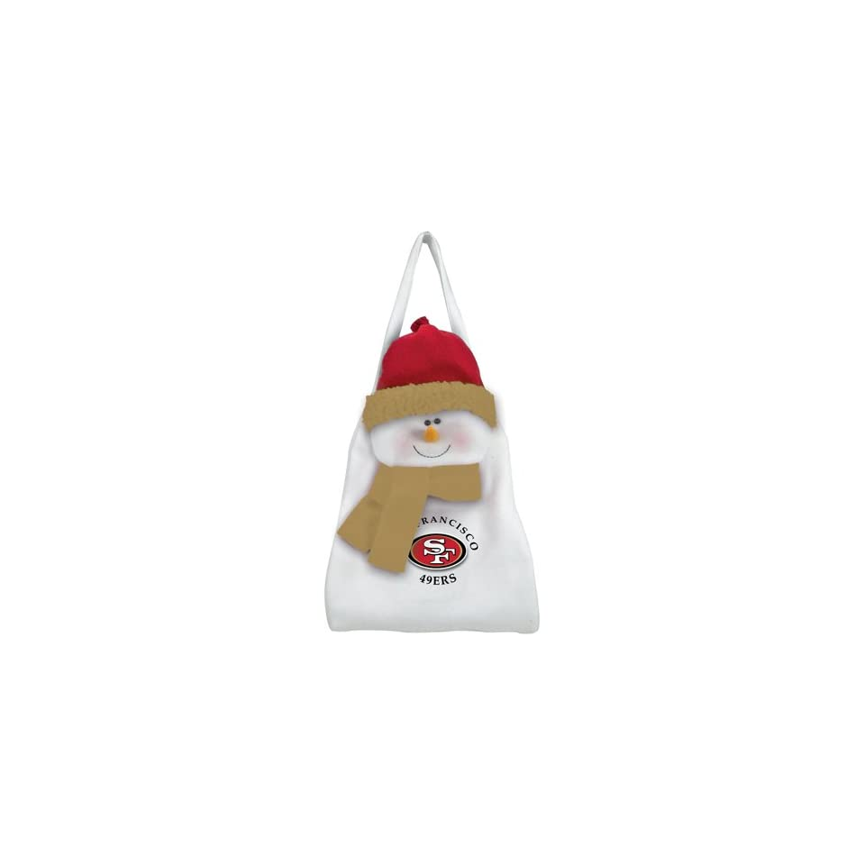 Pack of 2 NFL San Francisco 49er Plush Snowman Christmas Door Decoration or Bags   Sports Fan Hanging Ornaments