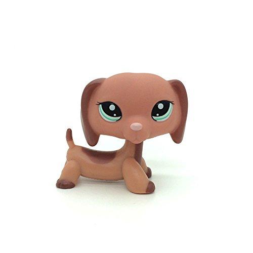 #2046 Figure Peach Brown Dachshund LITTLEST PET SHOP TOY 2