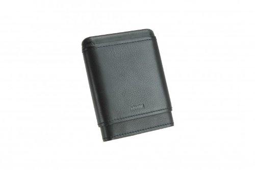 adorini cigar case real leather 3-5 cigars black