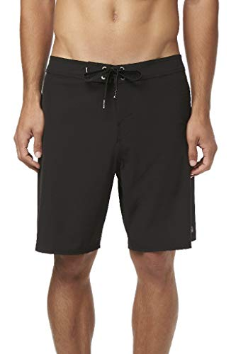 O'Neill Men's Water Resistant Hyperfreak Stretch Swim Boardshorts, 19 Inch Outseam (Black/Solid, ()