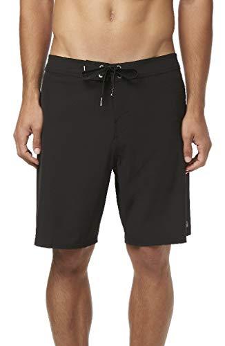 - O'Neill Men's Water Resistant Hyperfreak Stretch Swim Boardshorts, 19 Inch Outseam (Black/Solid, 32)