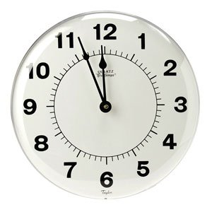 Taylor 166 12'' Large Dial Patio Clock
