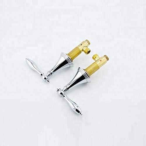 有用 3穴デュアルハンドル古典金クロームポリッシュ浴室の混合栓浴槽の蛇口 調整可能