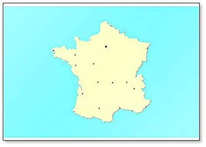 Map Of Major Cities In France.Amazon Com France Map With Major Cities Fridge Magnet Kitchen Dining