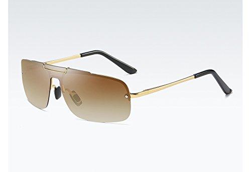 gold Lunettes Polarisées Soleil brown UV400 TL de Soleil Sunglasses de Homme qualité la Lunettes Haute Hommes pour avec RUqUwBaE