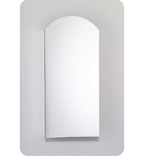Arch Top Large Medicine Cabinet - Robern PLM1634WBARE Bevel Edge, White Interior, Electric ̶ Right Hinge PL Series 16