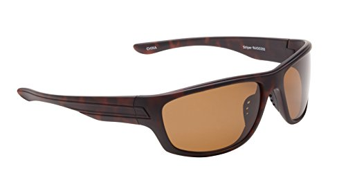 Fisherman Eyewear Striper Sunglasses with Brown Polarized Lens, Tortoise (Large)