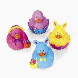 2 Dozen (24) Mini Easter Rubber Ducky Party (Mini Rubber)