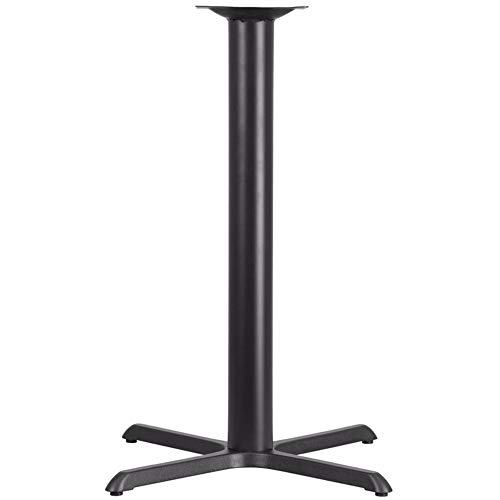 - Offex 33'' x 33'' Restaurant Table X-Base with 4'' Dia Bar Height Column