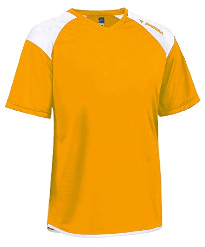 723febd8d37 Diadora Grinta short-sleeve soccer goalkeeper jersey personalized with your  name and number - color Gold - size Adult Small