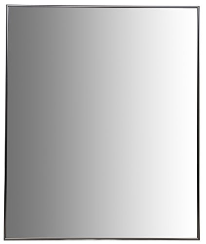 Nielsen Bainbridge 24x30 Rectangular Aluminum Wall Mirror | Vanity Mirror, Bedroom or Bathroom | Hangs Horizontal or Vertical | Nickel