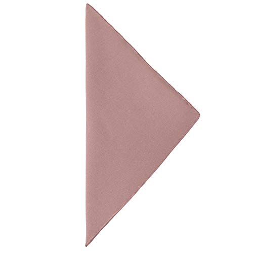 Ultimate Textile -5 Dozen- Cotton-Feel 17 x 17-Inch Cloth Napkins, Dusty Rose Light Pink by Ultimate Textile (Image #2)