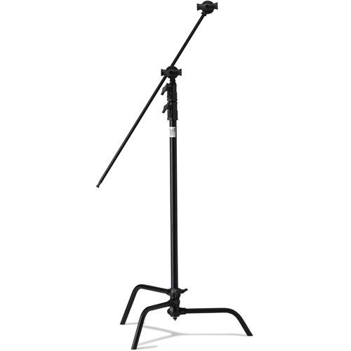 (Kupo 40in Master C-Stand with Sliding Leg Kit (Stand 2.5in Grip Head & 40in Grip Arm with Hex Stud) - Black (KS704011))