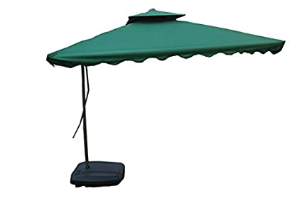 Amaze (250 cm x 250 cm) Pull-Push Type Patio Garden Farm House Beach  Swimming Pool Sun Shade Umbrella -Side Pole - Green