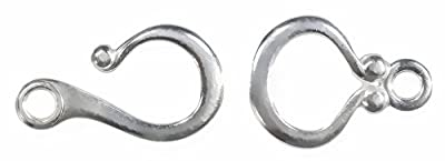 Hook and Eye Clasp Arg Silver 935 18mm from uGems
