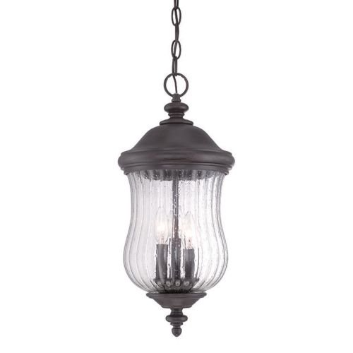 Acclaim 39716BC Bellagio Collection 3-Light Outdoor Light Fixture Hanging Lantern, Black Coral by Acclaim