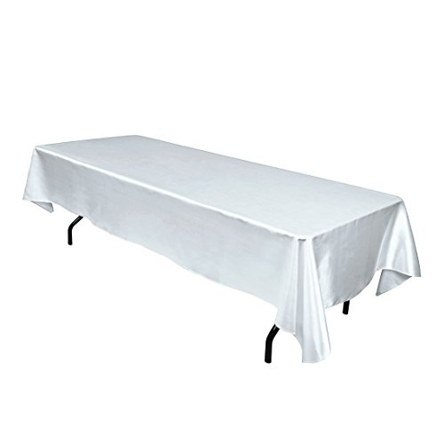 LinenTablecloth 60 x 102-Inch Rectangular Satin Tablecloth