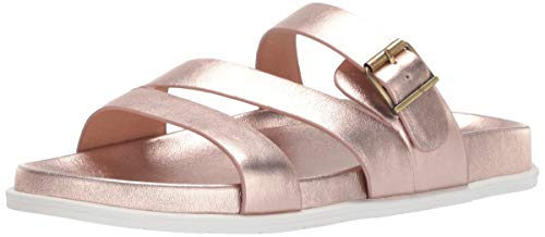 Blondo Women's Selma Flat Sandal Rose Gold Leather 5.5 Medium US