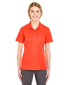 UltraClub 8210L Ladies Cool & Dry Mesh Pique Polo Polyester Orange XL
