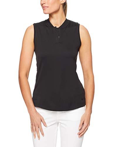 Nike Dri Fit Sleeveless Blade Collar Golf Polo 2018 Women Black Large