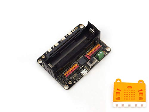 Orange 2 Sleeve Dc - RobotBit - Robot Expansion Board for Micro:bit Drive 4-Channel DC Motor / 2-Channel Stepper Motor Built-in Battery for Robotic Project+Micro:bit Case Silicone Sleeve-Orange